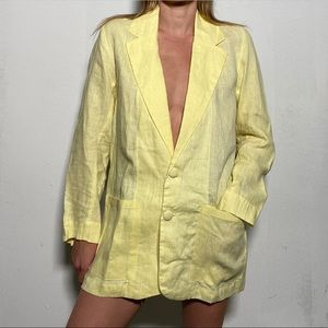 FAITHFULL THE BRAND Linen Oversized Blazer